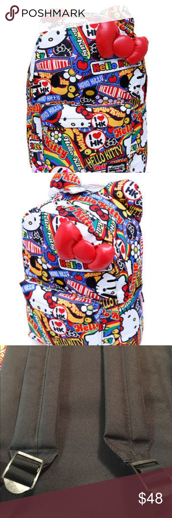 NWOT Hello Kitty Loungefly Button Backpack NWOT Hello Kitty Loungefly Button Backpack. Perfect for that Hello Kitty Lover in your life or collector. This comes from my private collection glass kept never used. Hello Kitty Bags Backpacks