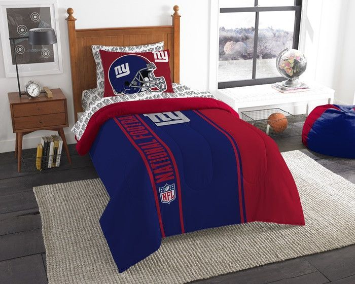 New York Giants NFL Twin Bed-in-a-Bag with Sheets. Visit SportsFansPlus.com for a Discount Coupon.