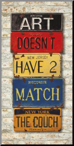 So true.  No matchy-matchy for me.