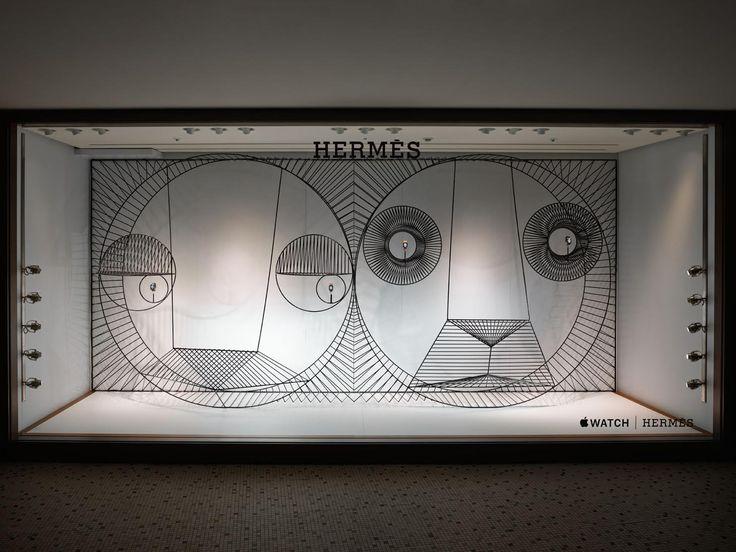 GamFratesi's Apple Watch Hermès Window Displays in Japan.
