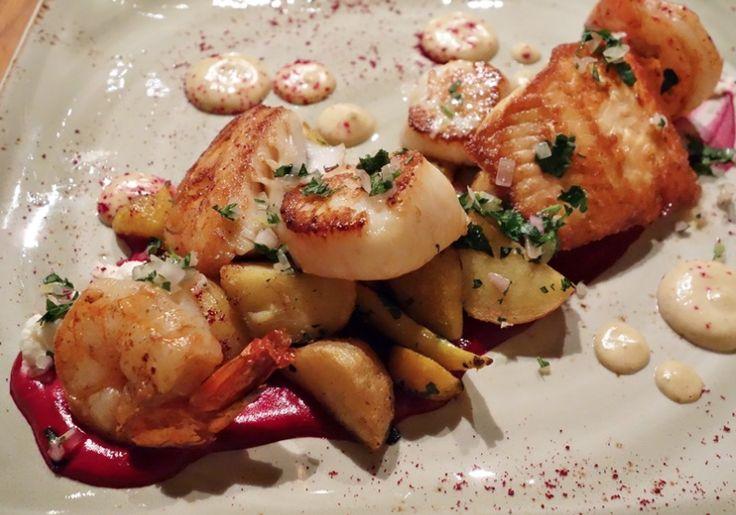 Hot Smoked Seafood Mix and Salad
