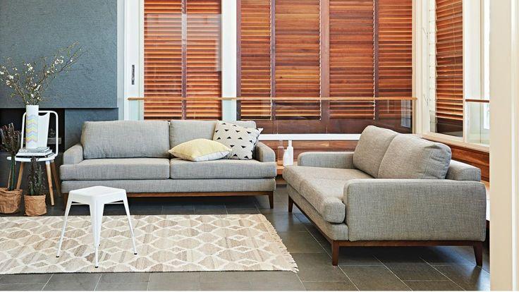 Ivy Fabric Sofa , Domayne (probably too deep)