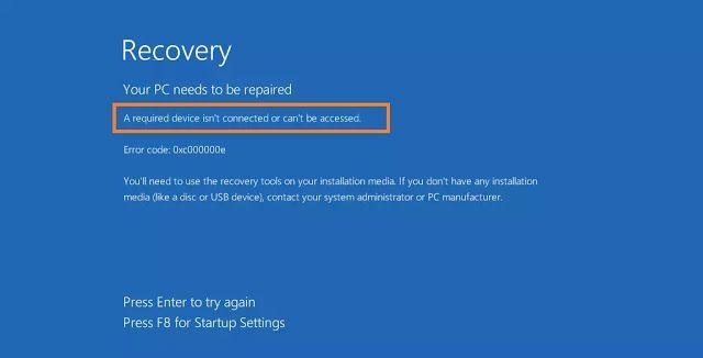 Cara Mengatasi Error A Required Device Isn T Connected Or Cannot Be Accessed Di Windows 10 Windows 10 Jaringan Komputer Windows