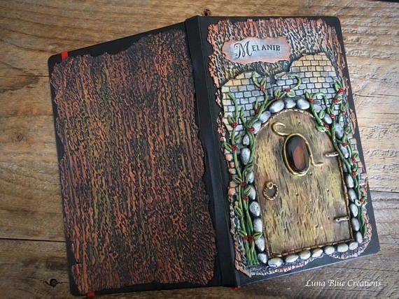 Personalized Journal Custom Journal Fairy Door Journal