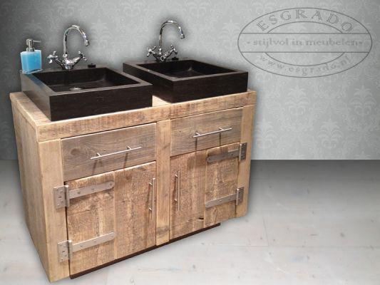 1000 images about landelijke badkamermeubelen on pinterest posts met and frames - Stenen wastafel ...