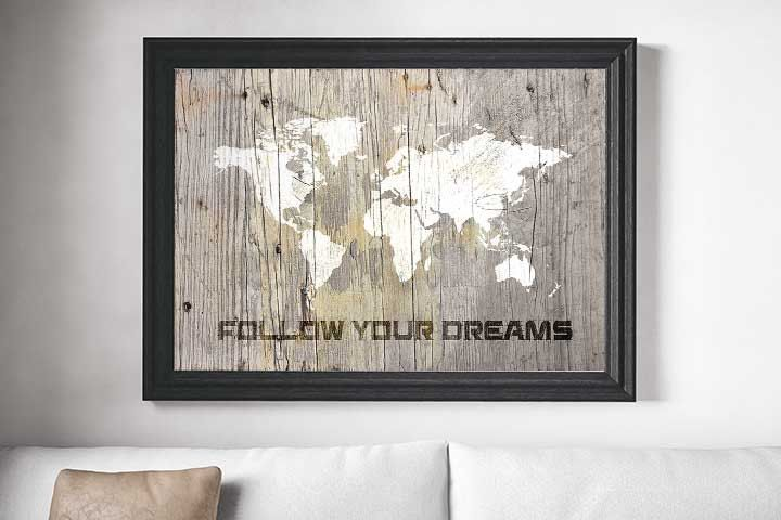 Rustic world map, poster design, world map print, rustic art, world map, rustic wall decor, best quotes, living room art, boys wall decor by Ikonolexi on Etsy