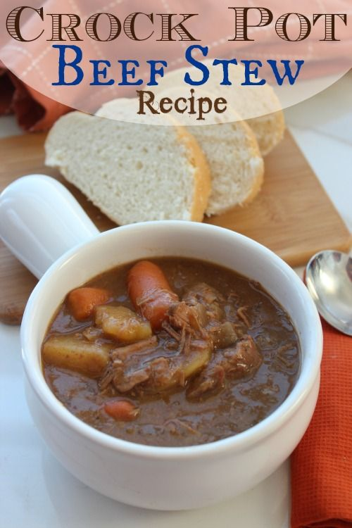 If you have a busy schedule and are looking for a new Crock Pot Meal for your family, check out this Crock Pot Beef Stew Recipe!