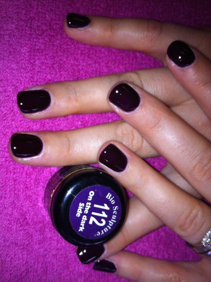 on the dark side,perfect for winter.... stunning nail colour. bio sculpture gel the healthy alternative in nail care