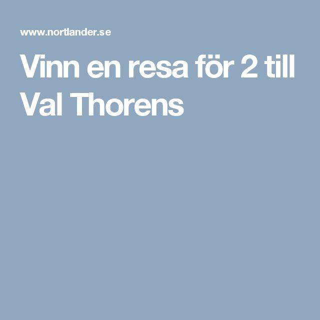 Vinn en resa för 2 till Val Thorens