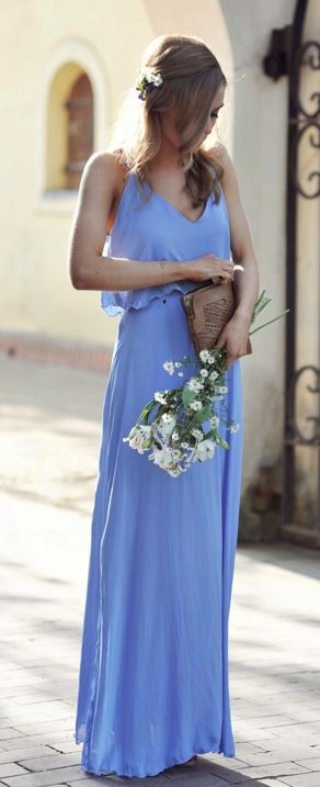 This would be a pretty bridesmaids dress in lilac or for Periwinkle dress for wedding
