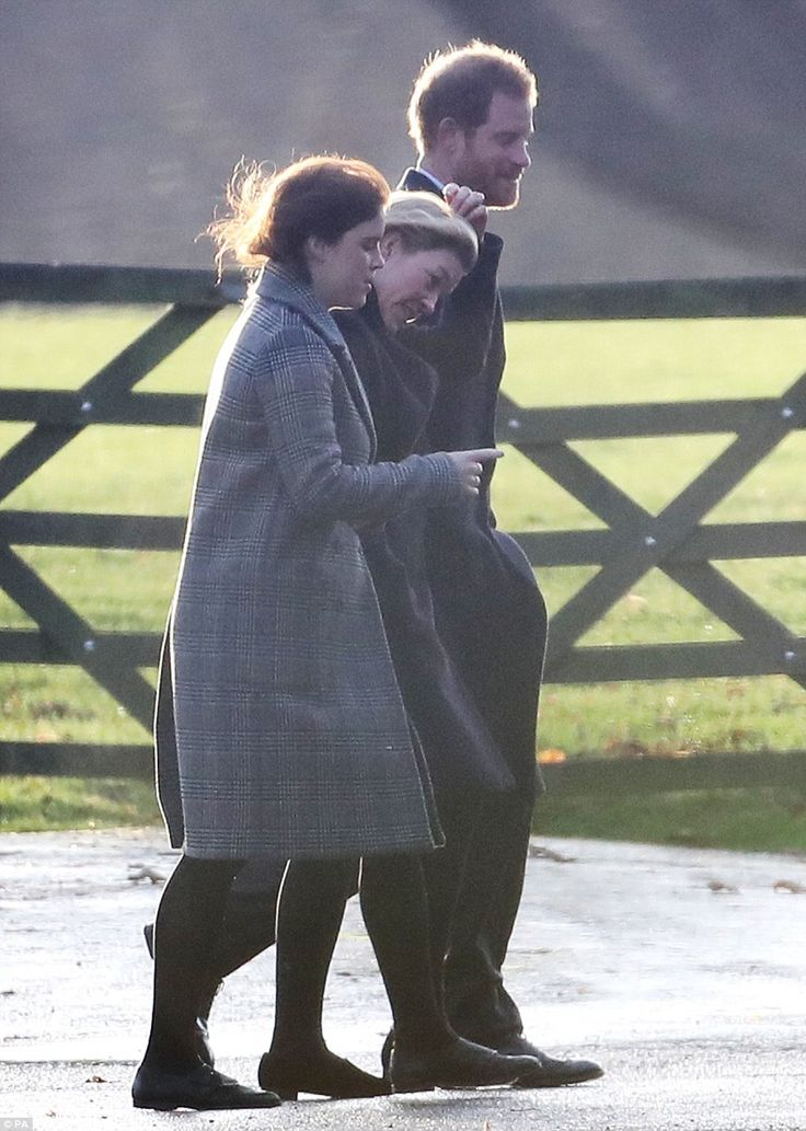 Prince Harry, his cousin Princess Eugenie and Princess Anne's daughter-in-law Autumn Phill...