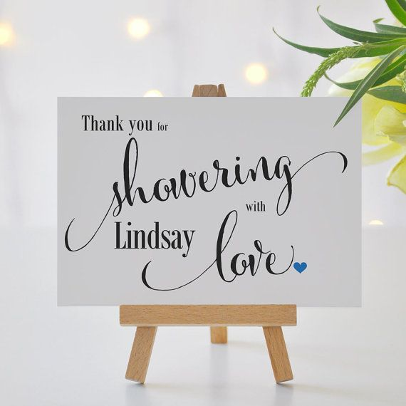 Thank You Sign For Wedding Gift Table : ... shower signage gift table thank you printed favor table sign size 5 x