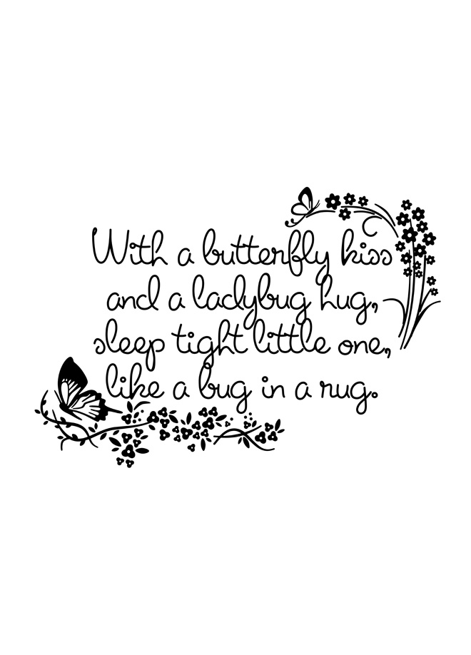 Butterfly kiss and Ladybug hug......This is perfect for my little Lilly Bug :) Scrapbook?
