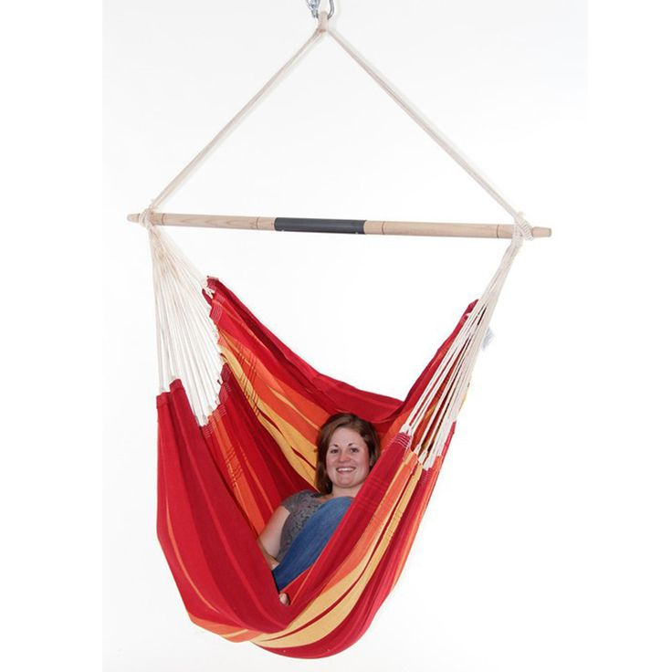 Gigante Brazilian Hammock Chair: Lava Red: Byer of Maine
