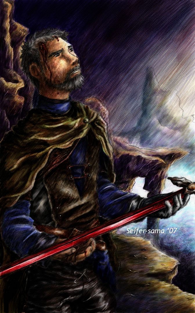 The Lonely Rider by ~seifer-sama on deviantART. This is beautiful. But in a painful kind of way.