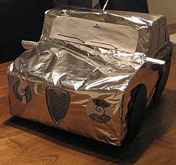 Knutselwerkje Auto model van knutselidee.nl