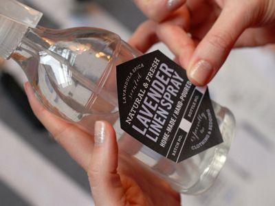 lavender linen spray label gorgeous packaging pinterest. Black Bedroom Furniture Sets. Home Design Ideas