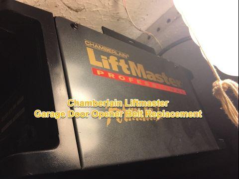 Chamberlain Garage Door Opener Belt Replacement 1280R Liftmaster 41A3589-3 - YouTube