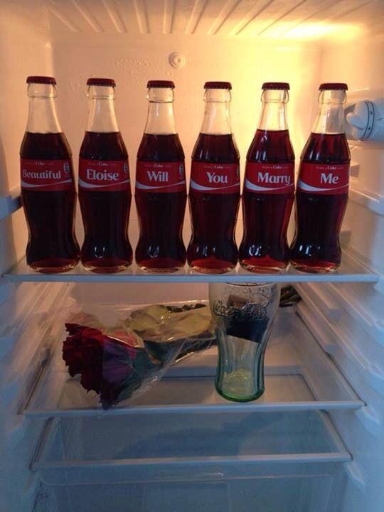Coca Cola huwelijksaanzoek