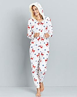 Pretty Secrets Fleece Reindeer Onesie