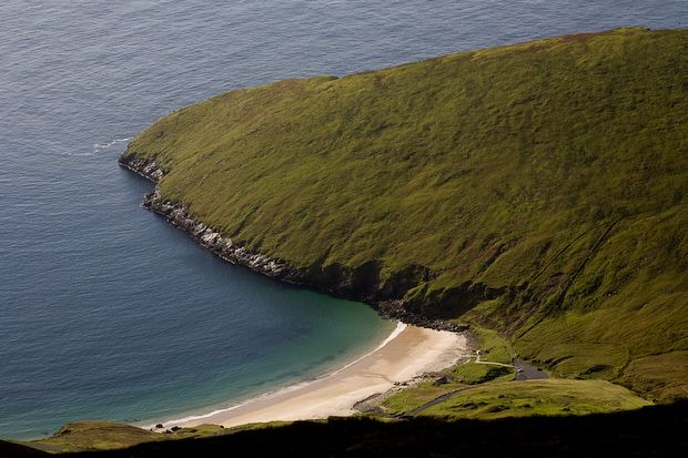 Keem beach on Achille Island Mulranny Ireland: Favorite Places, Fave Places, Achilles Islands, Cliff Driving, Keem, Mulranni Ireland Hop, Hairy Cliff, Islands Mulranni, Achil Islands