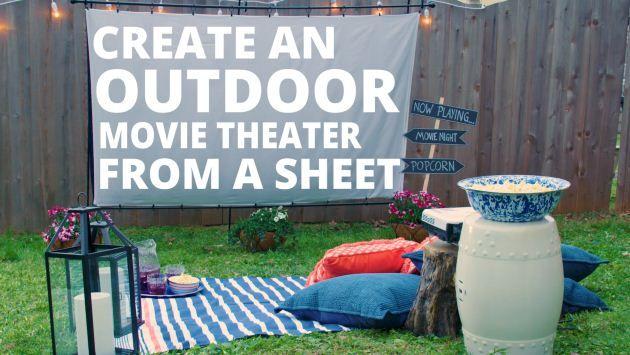 Create your own screen for fun backyard movie nights.