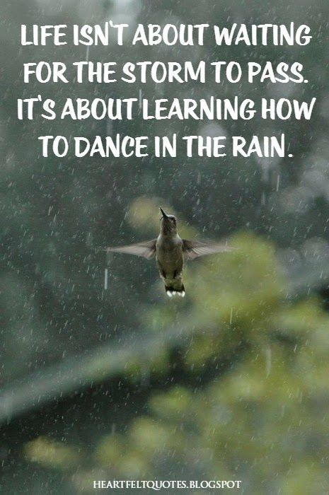 Heartfelt Quotes: Life Isnu0027t About Waiting For The Storm To Pass. Itu0027s  About Learning How To Dance In The Rain.