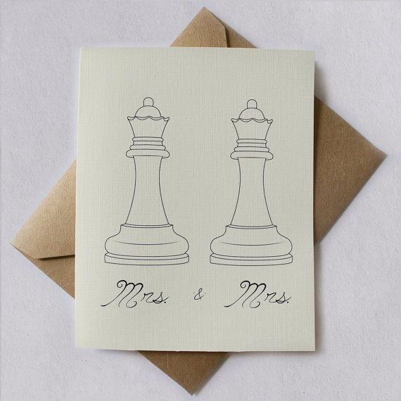 Invitaciones de Señora y Señora: | 23 ideas súper lindas para bodas lesbianas