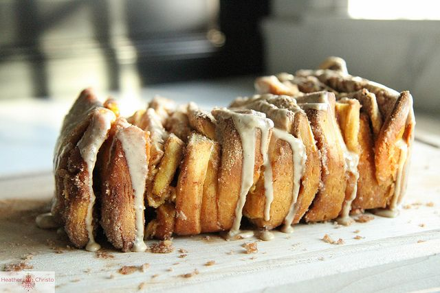 Pumpkin Cinnamon Pull Apart Bread with Maple Glaze from Heather Christo by Heather Christo, via Flickr