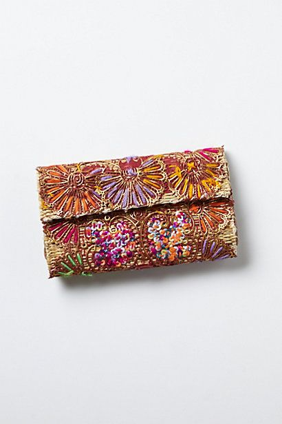Woven Fireworks Clutch #anthropologie