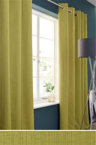 Buy Tonal Rib Eyelet Curtains online today at Next: Rep. of Ireland