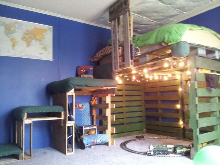 how to make loft bed with pallets 3