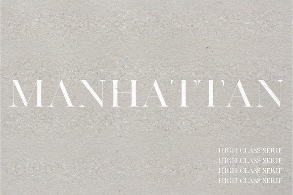 Manhattan | A High Class Serif by Jen Wagner Co on @creativemarket