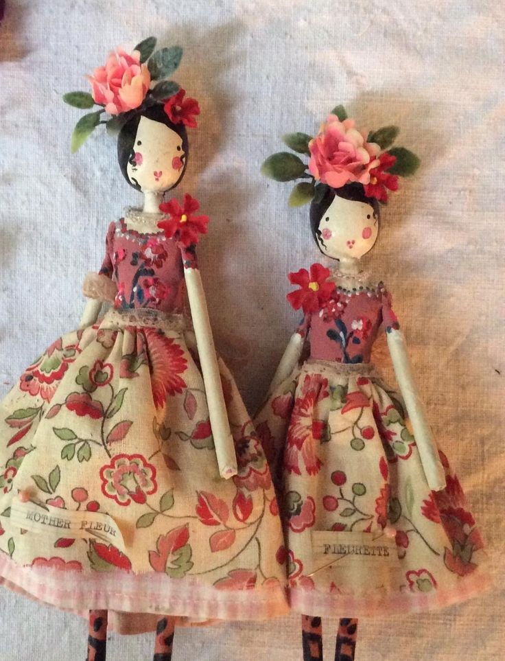 Handmade Mexican dolls from 'The Magpie and Wardrobe', London.