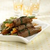 vegetables roll beef