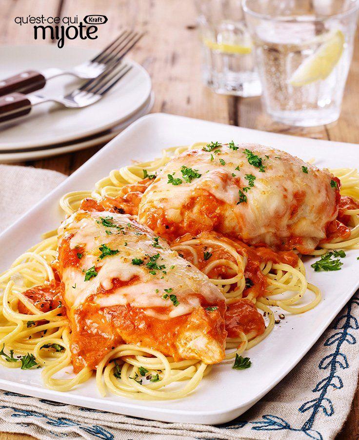 Poulet parmesan aux tomates et au basilic vite fait #recette