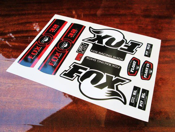 Fox Racing Shox 32 Fork Replacementcolored Sticker On The