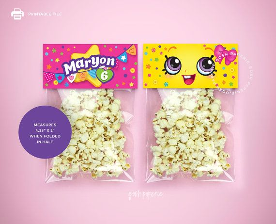 Shopkins birthday party. Treat Bag Toppers. Shopkins Favors. Shopkins Party Printables. Shopkins eyes.