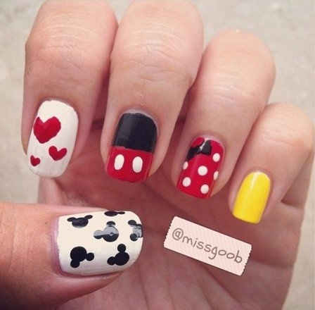 134 best minnie mouse images on pinterest disney nails art cute mickeyminnie mouse nails prinsesfo Image collections
