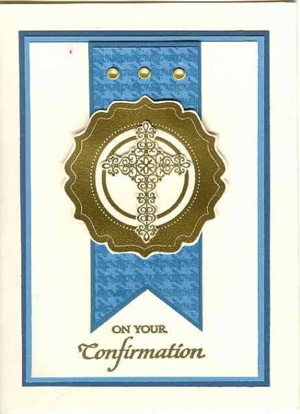 Crosses of Hope TLC374 Confirmation Cross by Kathy LeDonne - Cards and Paper Crafts at Splitcoaststampers