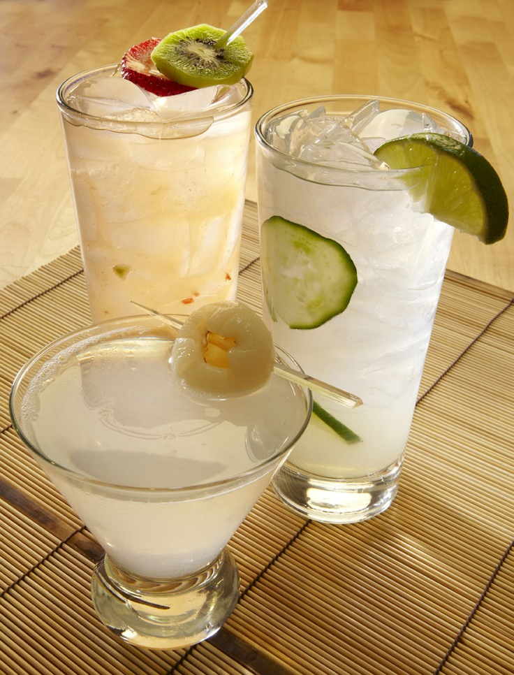 Those watching their waistline can enjoy the low-calorie Cucumber Collins, Kiwi-berry Kiss, and Lycheetini. ($9).