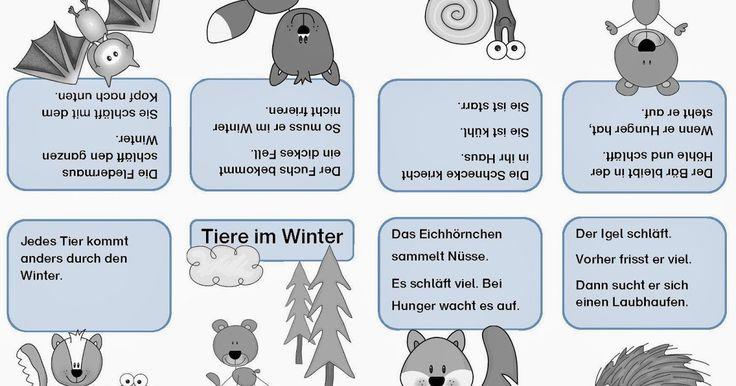Sachunterricht, Tiere im Winter, Faltheft, Faltbuch, kostenlose Vorlage, Klasse 1, Sachkunde