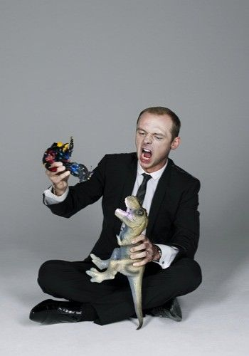 Simon Pegg. Toy dinosaurs. Does this really need explanation?