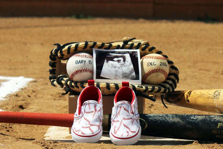 Baseball pregnancy announcement