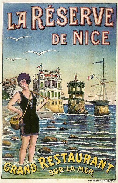 la Réserve de Nice  via Vintage Poster