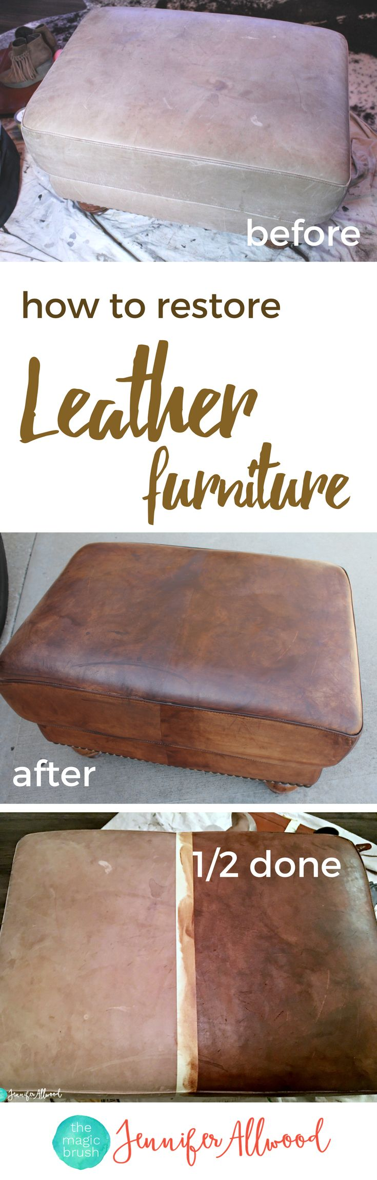 How To Restore Leather Furniture With ReLuv Leather Paint | Fix Worn Out  Leather Furniture |