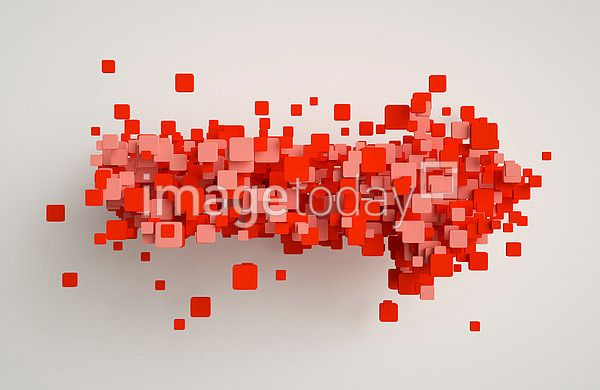 이미지투데이 3D 3DS 도형 배경 백그라운드 빨강 빨간색 사각형 입체 화살표 imagetoday figure background red quadrangle arrow