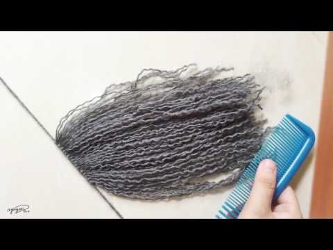 [206pro]Tutorial - Yarn doll hair for crochet doll (Part 1-Making hair) - YouTube