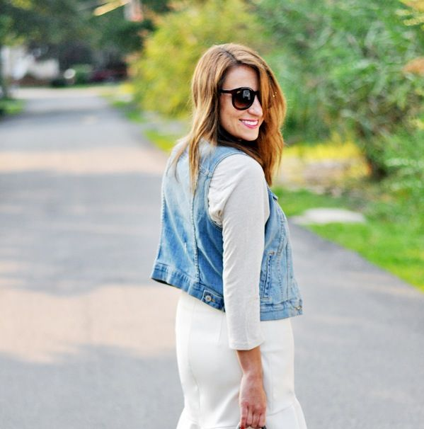 Style Sessions: How To Style A Denim Vest | theglitterguide.com