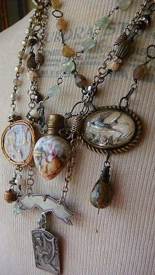 reconstructed vintage jewelry by Lisa Bommarito - LOVE!